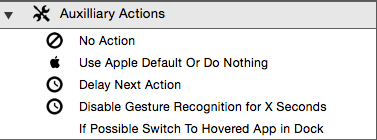 Auxiliary actions