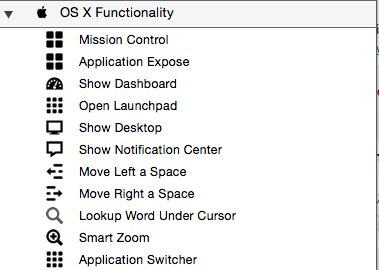 OS X functionality