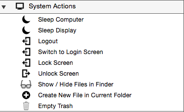 System actions