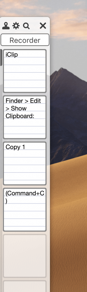 iClip clipboard manager