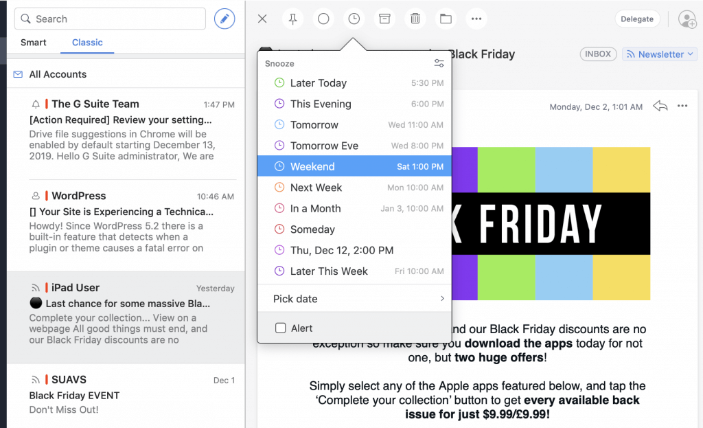 Spark, an advance mail client for the Mac.