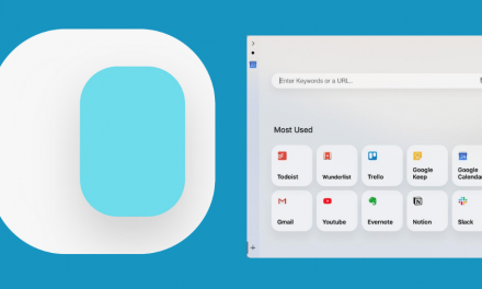 Activating slidePad, the quick view Web browser