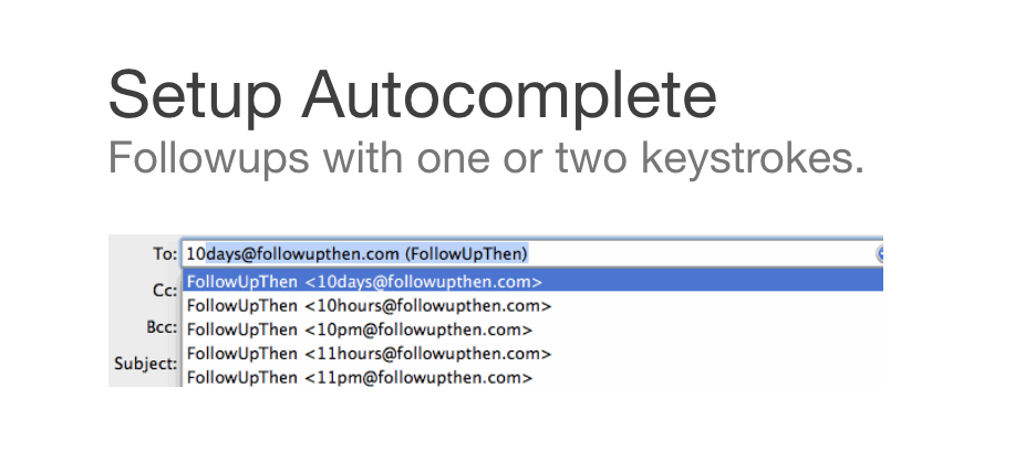 Autocomplete for FollowUpThen