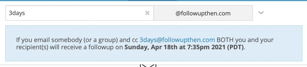 A FollowUpThen notice.
